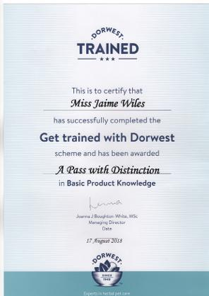 Photo of a dorwest trained certificate